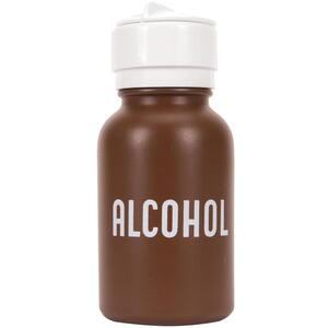 MENDA 8 oz. Plastic Imprinted with word Alcohol