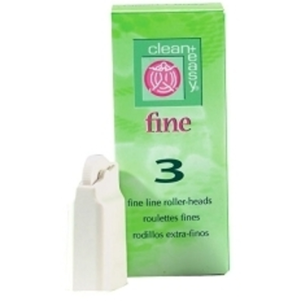 CLEAN & EASY Fine Line Roller Heads 3 Pack