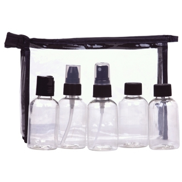 5 Piece Clear Bottle Set (C338T)