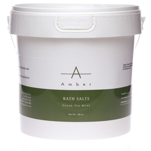Amber® Green Tea Mint Bath Salts / 1 Gallon (C4340T)