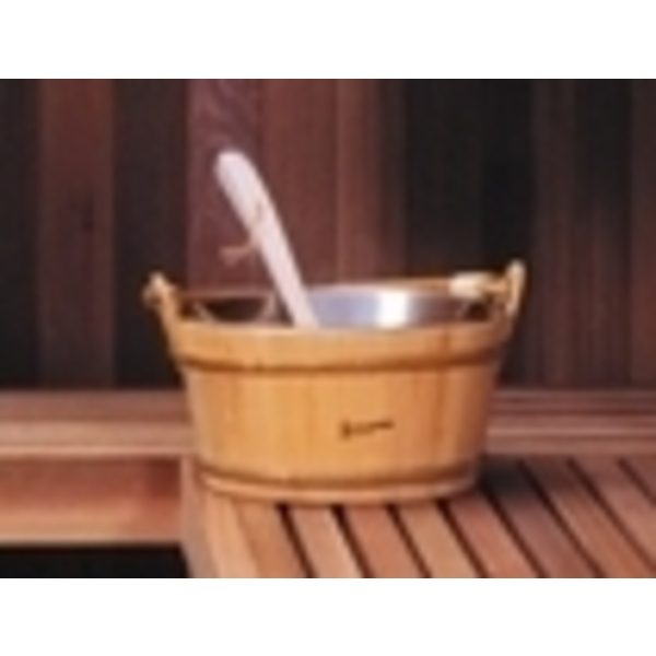 Wooden Bucket with Ladle (C5692T)