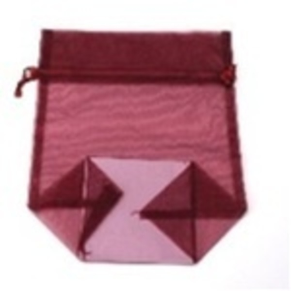 Large Organza Bag / Burgundy (CZ357)
