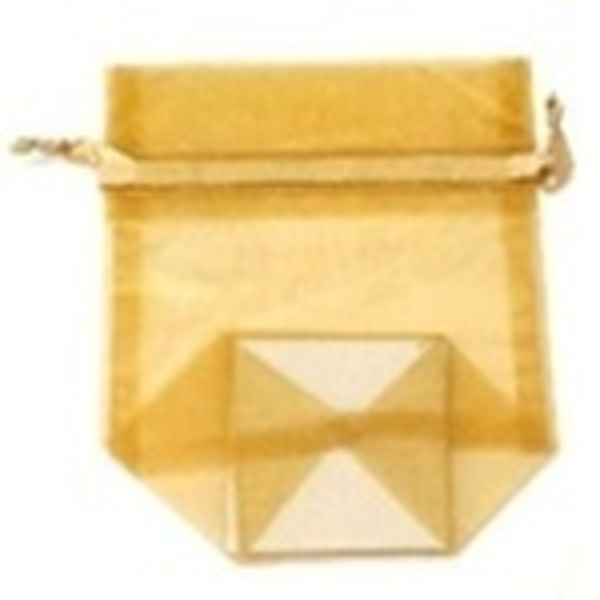 Small Organza Bag / Gold (CZ366)