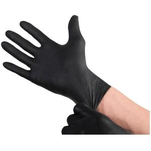 Black Powder-Free Nitrile Gloves / 100 / Large (46638)