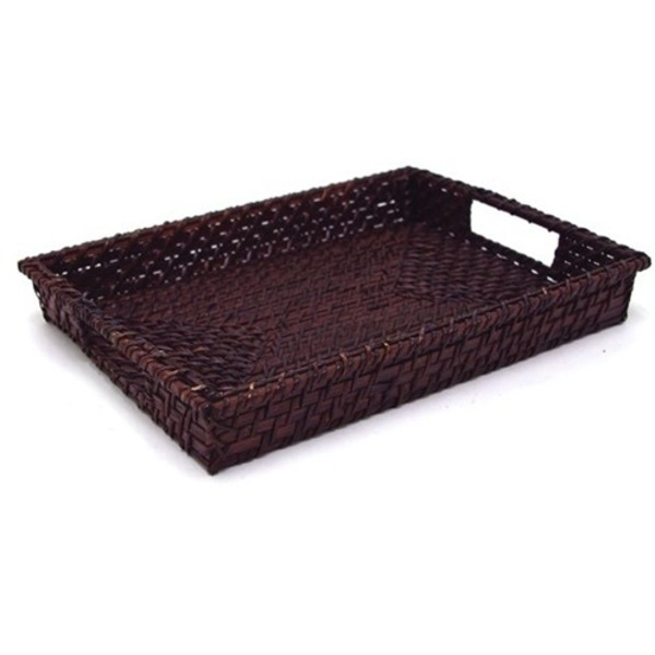 Rattan Rectangular Tray - Chocolate (360702)