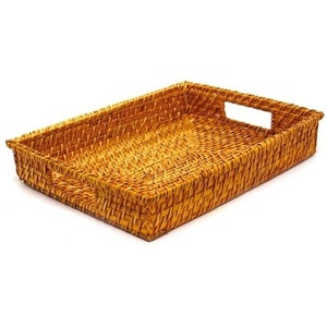 Rattan Rectangular Tray / Citrus (360703)
