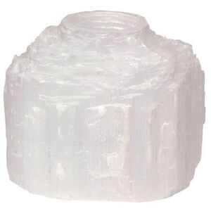 Selenite Natural Candleholder (C3528)