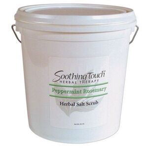 Soothing Touch Peppermint Rosemary Herbal Salt Scrub / 2 Gallon (ST262)