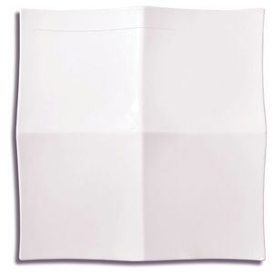 Medium 4 Section Square Origami Plate (360221)