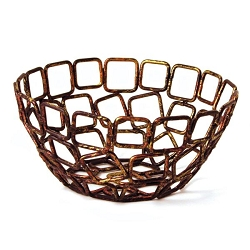 Coppered Linked Bowl (360900)
