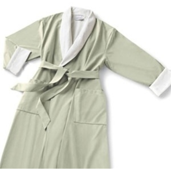 Microfiber Roll Collar Robe Sage Regular (C4587)