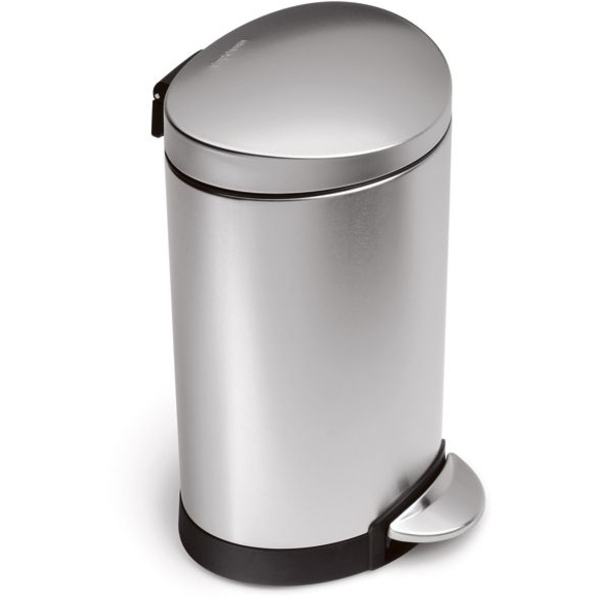 Stainless Steel Semi Round Trash Can Medium (C5793)