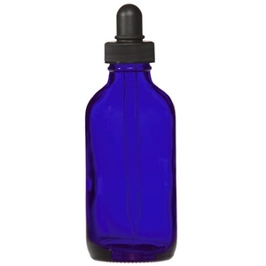 Cobalt Blue Glass Dropper Bottle 4 oz. (C8038T)