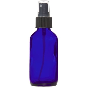 Cobalt Blue Glass Bottle with Atomizer 4 oz. (C8040T)