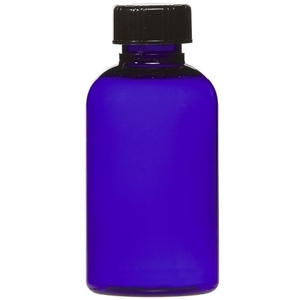 Cobalt Blue PET Bottle with Lid 2 oz. (C8041T)