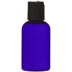 Cobalt Blue PET Bottle with Disc Cap 2 oz. (C8042T)