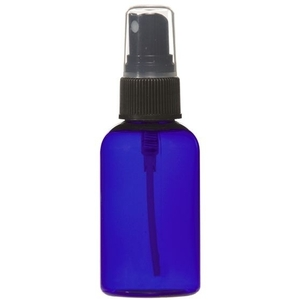Cobalt Blue PET Bottle with Atomizer 2 oz. (C8043T)