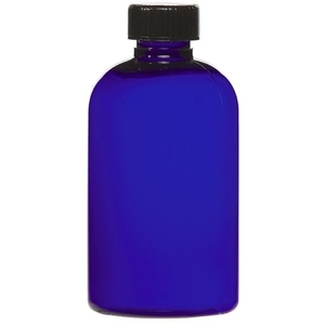 Cobalt Blue PET Bottle with Lid 4 oz. (C8044T)