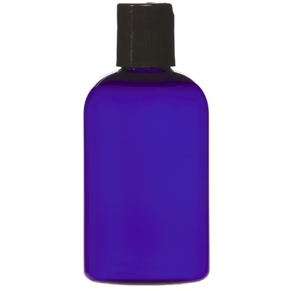 Cobalt Blue PET Bottle with Disc Cap 4 oz. (C8045T)