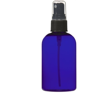 Cobalt Blue PET Bottle with Atomizer 4 oz. (C8046T)