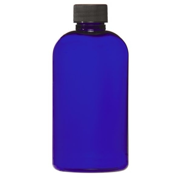 Cobalt Blue PET Bottle with Lid 8 oz. (C8047T)