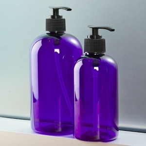 Cobalt Blue PET Bottle with Pump 8 oz. (C8050T)