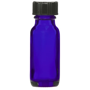 Cobalt Blue Bottle with Lid 0.5oz (C8052T)