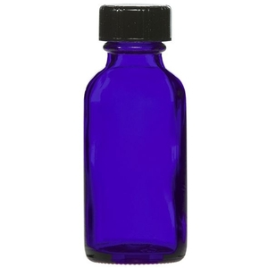 Cobalt Blue Bottle with Lid 1 oz. (C8053T)