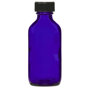 Cobalt Blue Glass Bottle with Lid 2 oz. (C8054T)