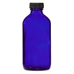 Cobalt Blue Glass Bottle with Lid 8 oz. (C8056T)