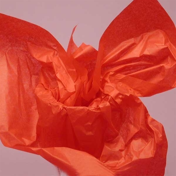 "Mandarin Red Tissue Paper 20""x30"" 480 Sheets (CZ398)"