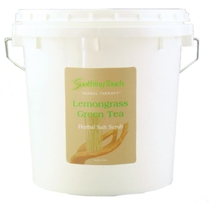 Lemongrass Green Tea Salt Scrub 1 Gallon by Soothing Touch (ST325)