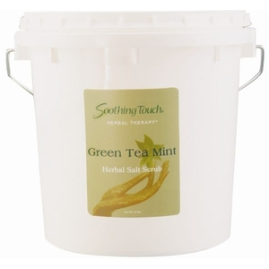 Green Tea Mint Salt Scrub 1 Gallon by Soothing Touch (ST326)