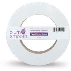 Plum Smooth Collars For Wax Warmers Round 50 count
