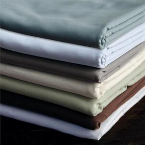 "Sposh Microfiber Sheet - Fitted 32.5""W x 73""L x 6.5"" Pocket - Available in Cream White Coffee Tea Leaf Blue Agate & Moonstone"