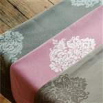 "Sposh Bolster Cover Damask 8"" - Available in Coffee Blue Agate Magenta White & Moonstone Black"