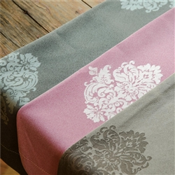 "Sposh Bolster Cover Damask 8"" - Available in Coffee Blue Agate Magenta White & Moonstone Gray"