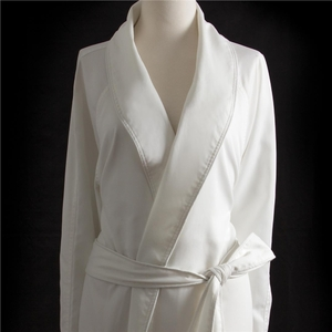 Sposh Microfiber Twill Robe without Pockets One Size - Available in White or Cream