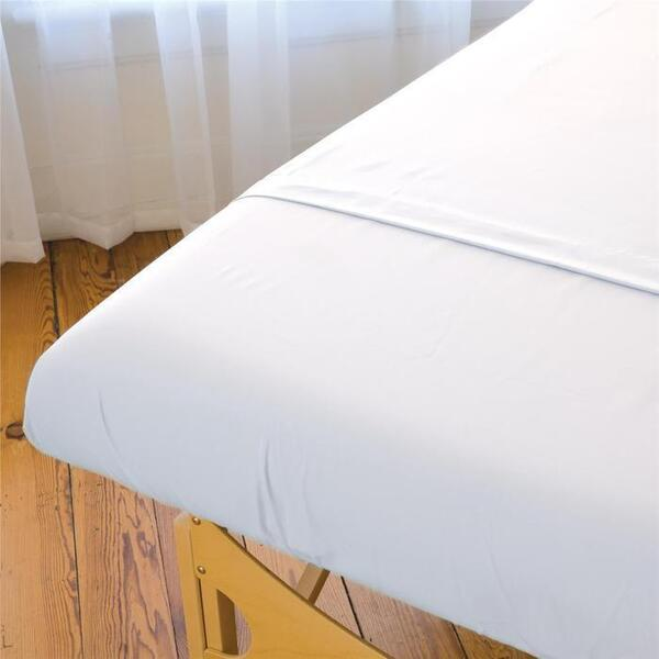 "Sposh Extra Large Fitted Sheet 36""W x 77""L x 8.5"" D Pocket - White Cream"