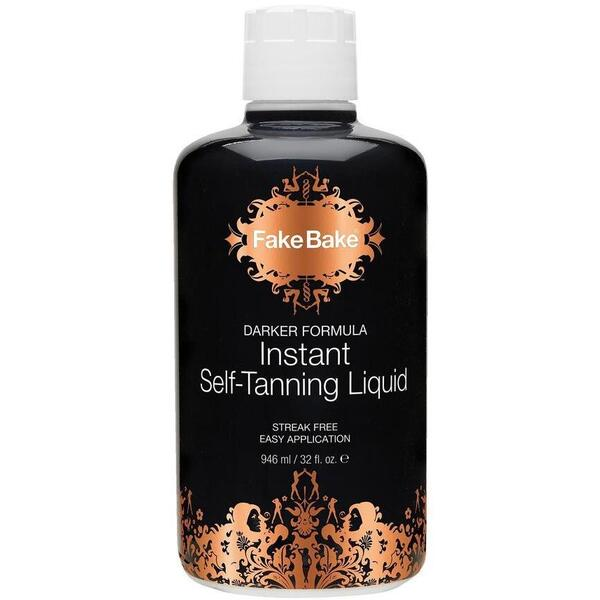 Fake Bake Airbrush Tanning Solution Darker - Instant Self-Tanning Liquid 32 oz.