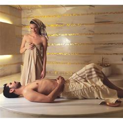 "A La Turca Pestamal Professional Turkish Bath Wrap - Taupe with Cream Stripe 36"" x 64"""