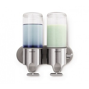 Twin Wall Mount Stainless Steel Pump Dispenser