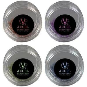 Vlash .20 Thick J Curl Colored Lashes 11 mm Long Available in Auburn Green Blue and Purple