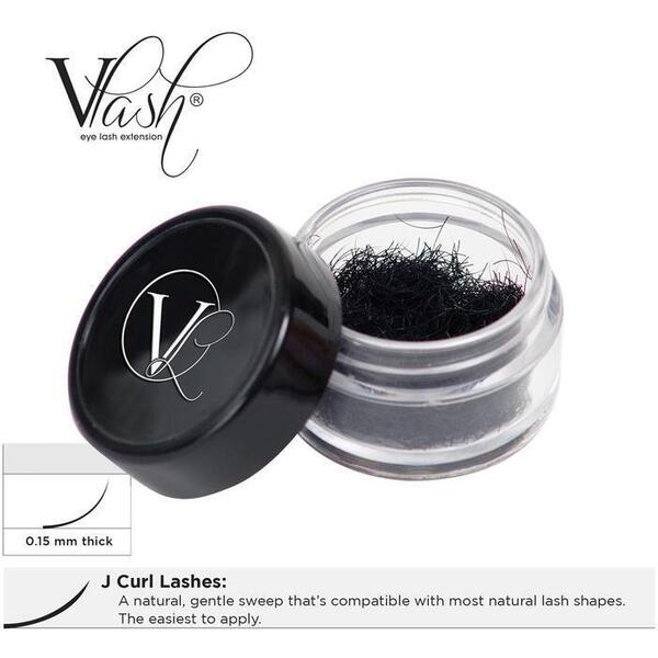 Vlash J Curl Lashes .15 Thick Choose from 8 mm - 15 mm Long