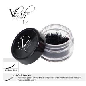 Vlash J Curl Lashes .25 Thick Choose from 8 mm - 17 mm Long