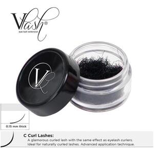 Vlash C Curl Lashes .15 Thick Choose from 8 mm - 15 mm Long