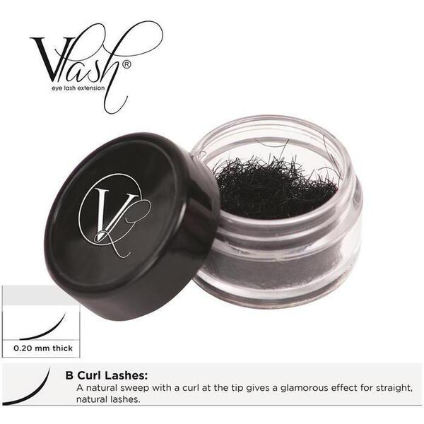 Vlash B Curl Lashes .20 Thick Choose from 8 mm - 17 mm Long