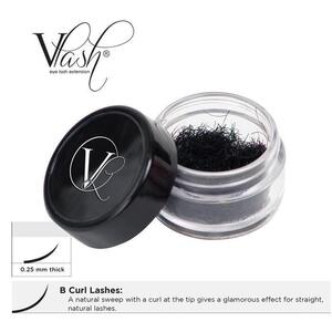Vlash B Curl Lashes .25 Thick Choose from 8 mm - 14 mm Long