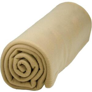 "Polar Fleece Blanket - 3"" x 90"" Camel"