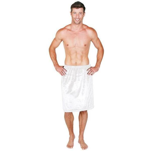 Canyon Rose Cloud 9 Microplush Men's Spa Wrap White